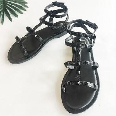 Shu Shop Black Studded Sandal