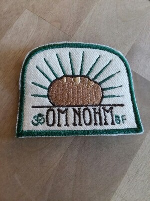 Om Nohm Gluten Free handmade fabric patch