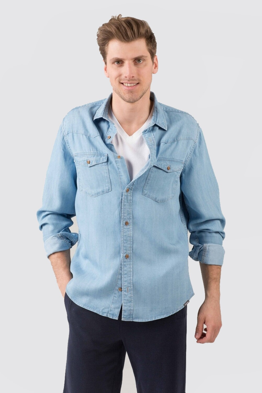 Switcher Light Denim Shirt Leros