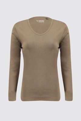 Women's long sleeve t-shirt, jersey stretch Yasmin