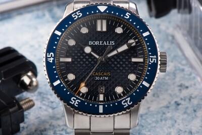Borealis Cascais V2 Version BA.1 Blue Portuguese Cobblestone Dial Cathedral Hands Date