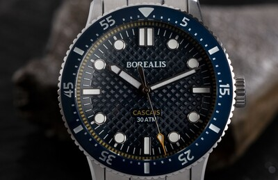 Borealis Cascais V2 Version AA Blue Portuguese Cobblestone Dial Pencil Hands No Date