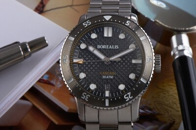 Borealis Cascais V2 Version AD1 Grey Portuguese Cobblestone Dial Pencil Hands Date