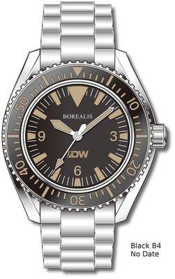 Pre-Order Borealis Estoril 300 for Diver's Watches Facebook Group Black Dial Big Triangle No Date Black B4 No Date