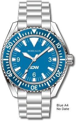 Pre-Order Borealis Estoril 300 for Diver's Watches Facebook Group Blue Dial Big Triangle No Date Blue A4