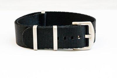 Borealis premium Nato style seatbelt 1.4mm nylon weave strap 22mm size black