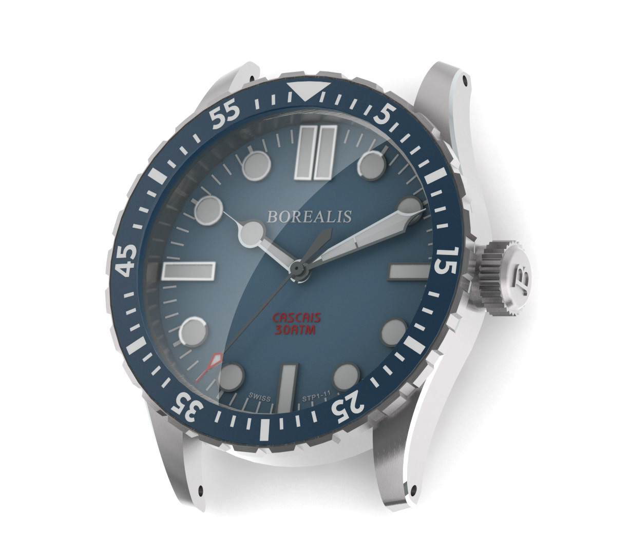 Borealis Cascais Blue Dial Cathedral Hands No Date BGW9 Lume