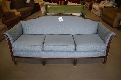 Victorian-Style Blue Sofa