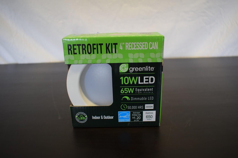 "Greenlite 10W 4"" Recessed Can Retrofit Kit"