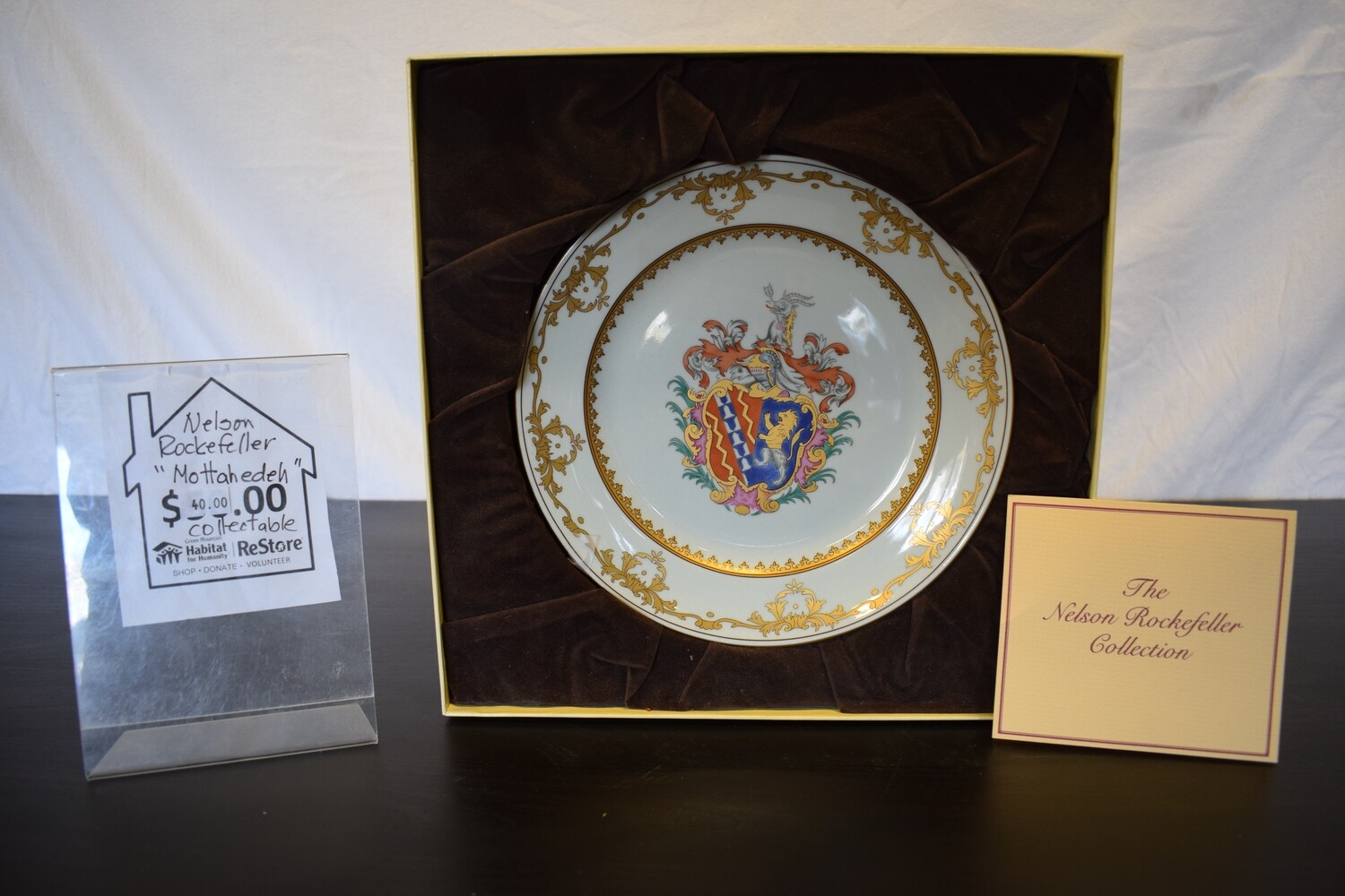 """Nelson Rockefeller """"Mottahedeh"""" Collectible Plate"""