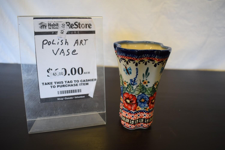 Polish Art Vase