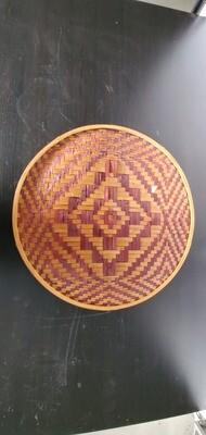Large woven cane decoration