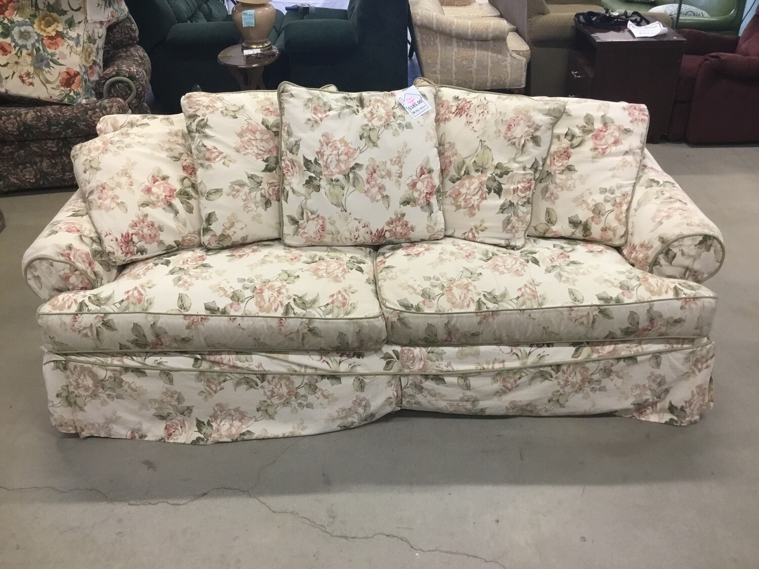 Floral Sleeper Sofa