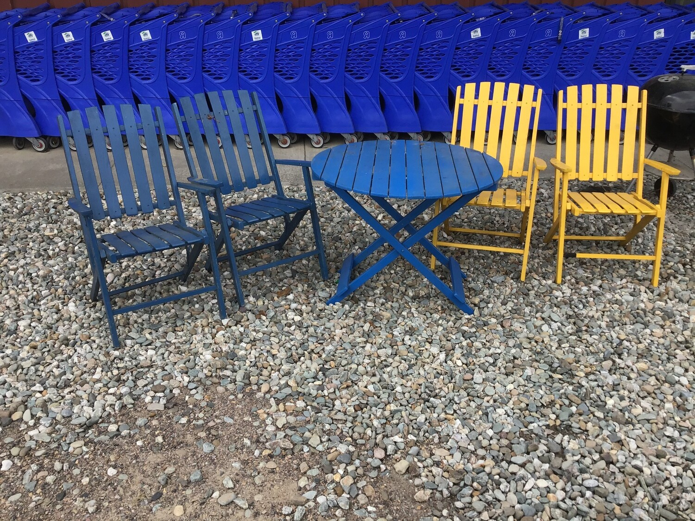 Outdoor Wood Furniture Set