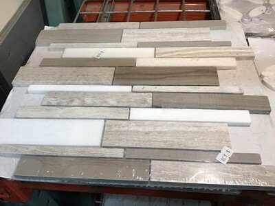 Elida Ceramica Stone Savy Natural Linear 12-in x 12-in Polished Linear Mosaic Tile