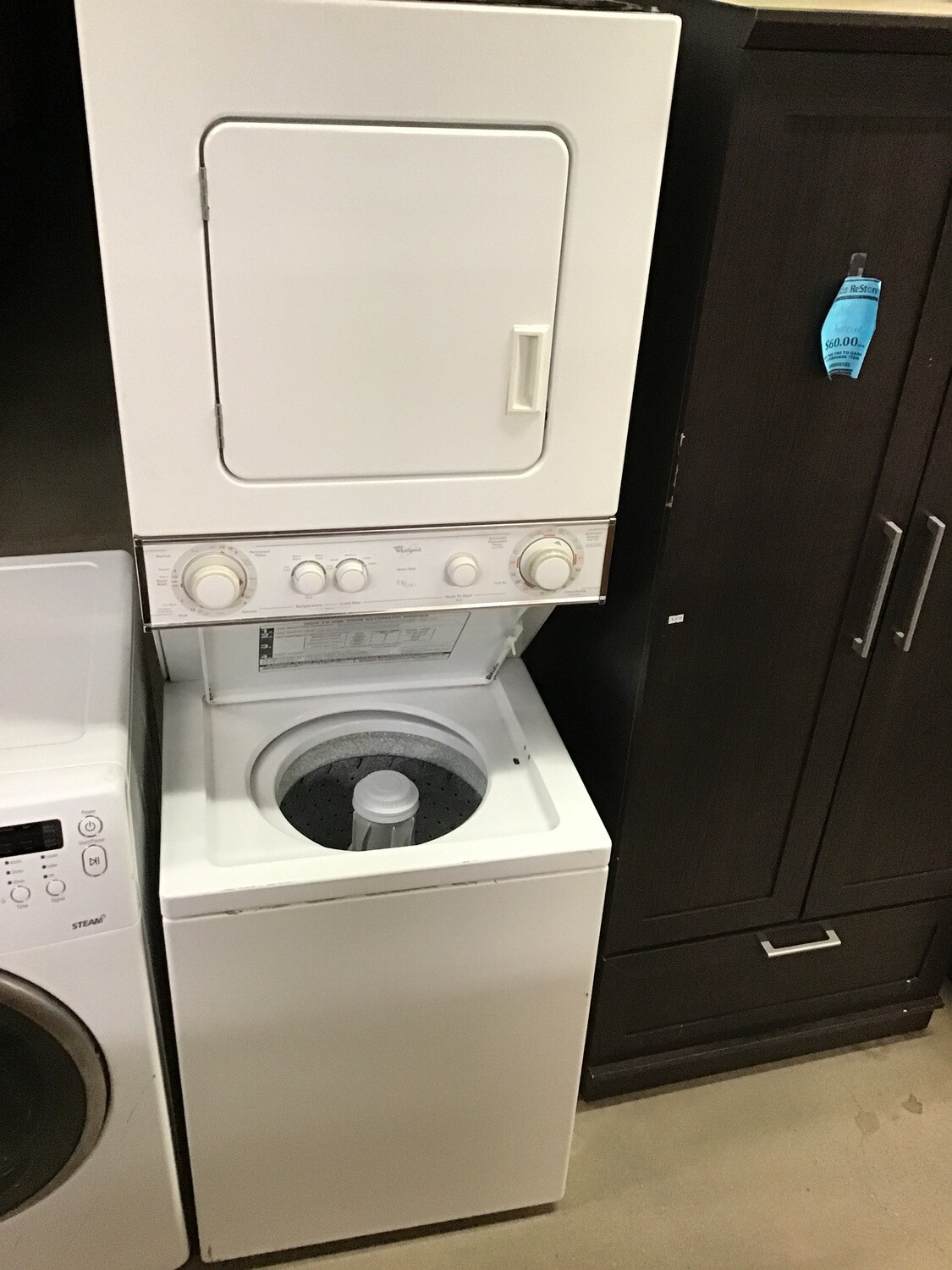 Whirlpool HD COMPACT Nat. Gas Stacked Laundry Center