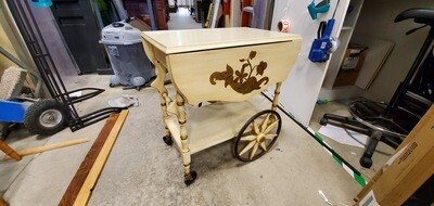 Drop Leaf Tea Cart