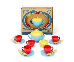 Green Toys Tea Set - Red/Blue/Yellow
