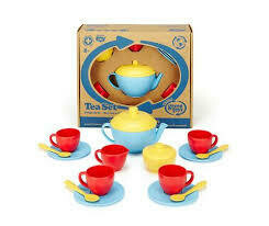 Green Toys Tea Set - Red/Blue/Yellow