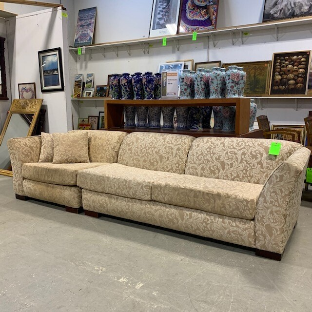 2-Piece Off-White Patterned Sofa