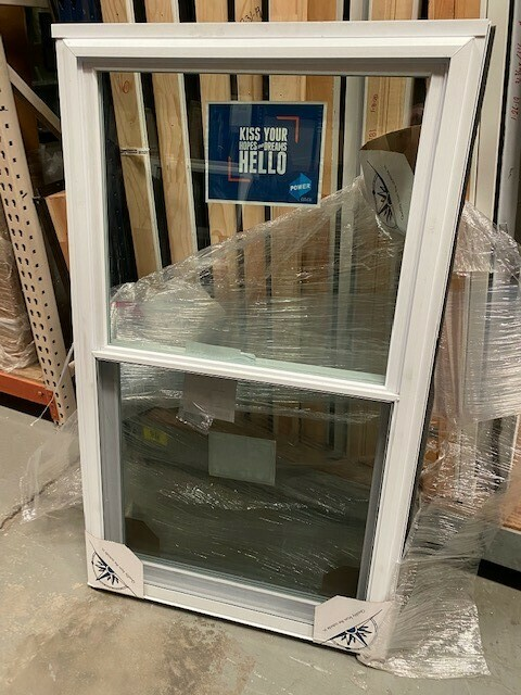White Double Hung Windows with ½ screens
