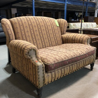Oversized Floral Striped Armchair