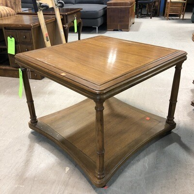 Vintage Square End Table