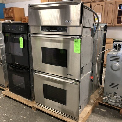 Stainless Steel Dacor Electric Double Wall Oven w/ Warming Drawer