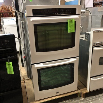 White Maytag Electric Double Wall Oven