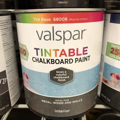 Valspar Interior Tintable Chalkboard Paint – Quart