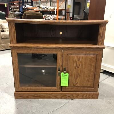 Faux Wood Veneer TV Cabinet