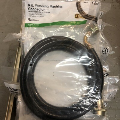 "6ft Washing Machine Connector – ¾"" Inlet/Outlet"