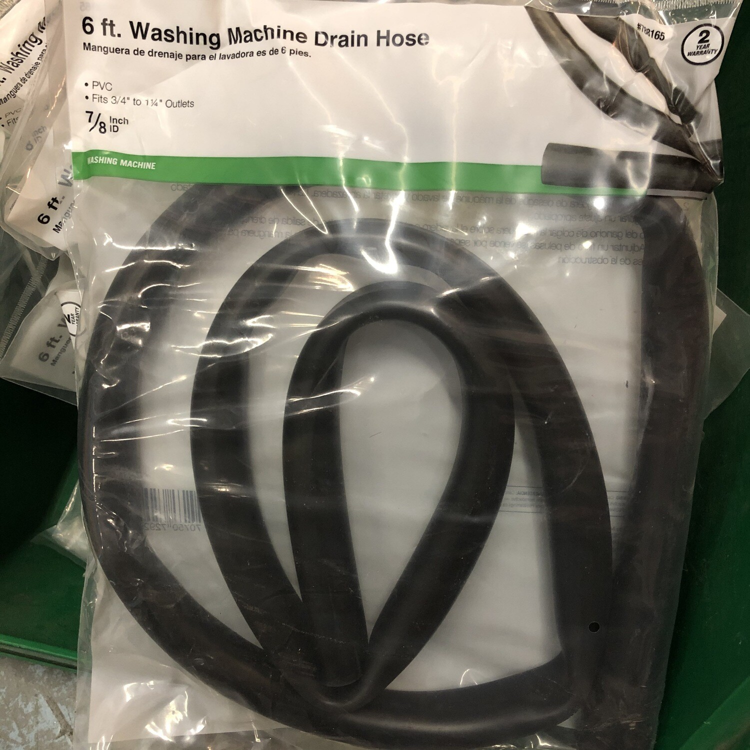 "6ft Washing Machine Drain Hose – 7/8"" I.D"