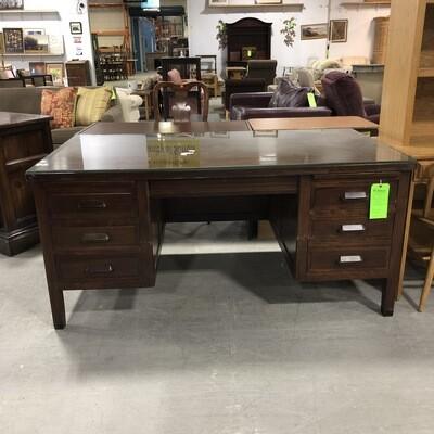 Wooden Banker's Desk
