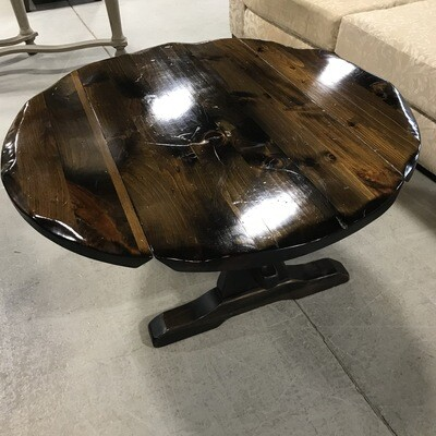 Solid Pine Drop-Side Coffee Table