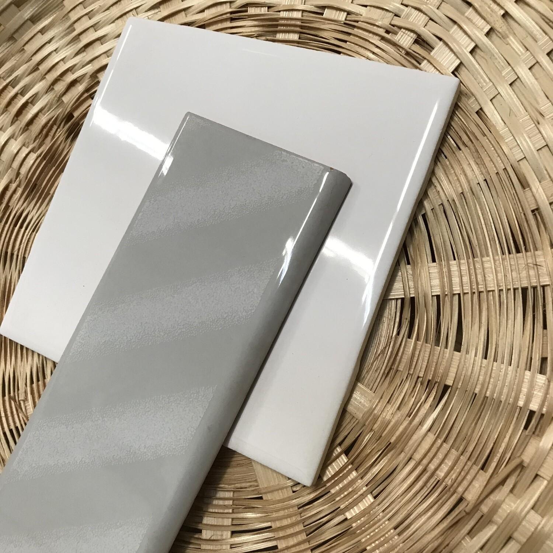 "Madrid Grey 7 7/8""x3"" Bullnose Ceramic Tile"