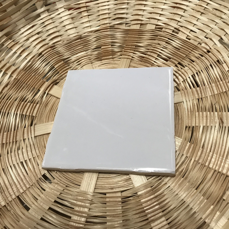 "White 4 ½""x 4 ½"" Ceramic Tile"