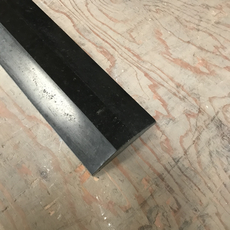 Black Rounded Granite Door Saddles