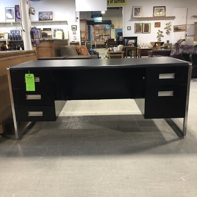 Black Metal and Chrome Desk