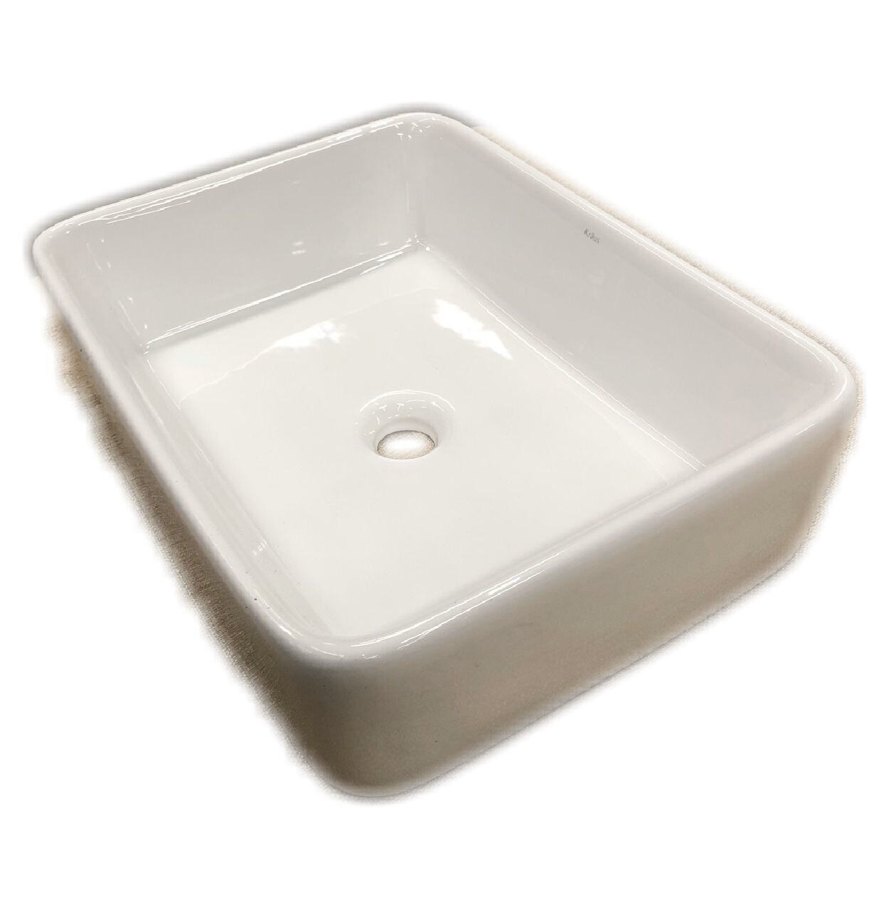 Kraus White Rectangular Ceramic Sink– KCV-121