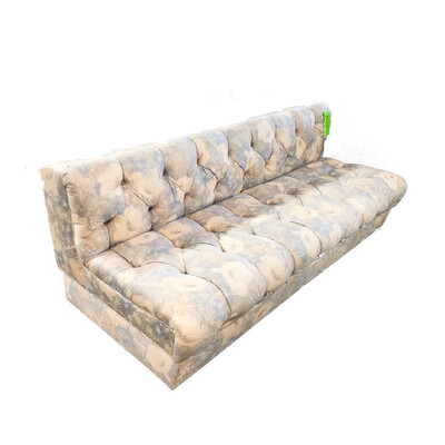 Armless Floral Sofa