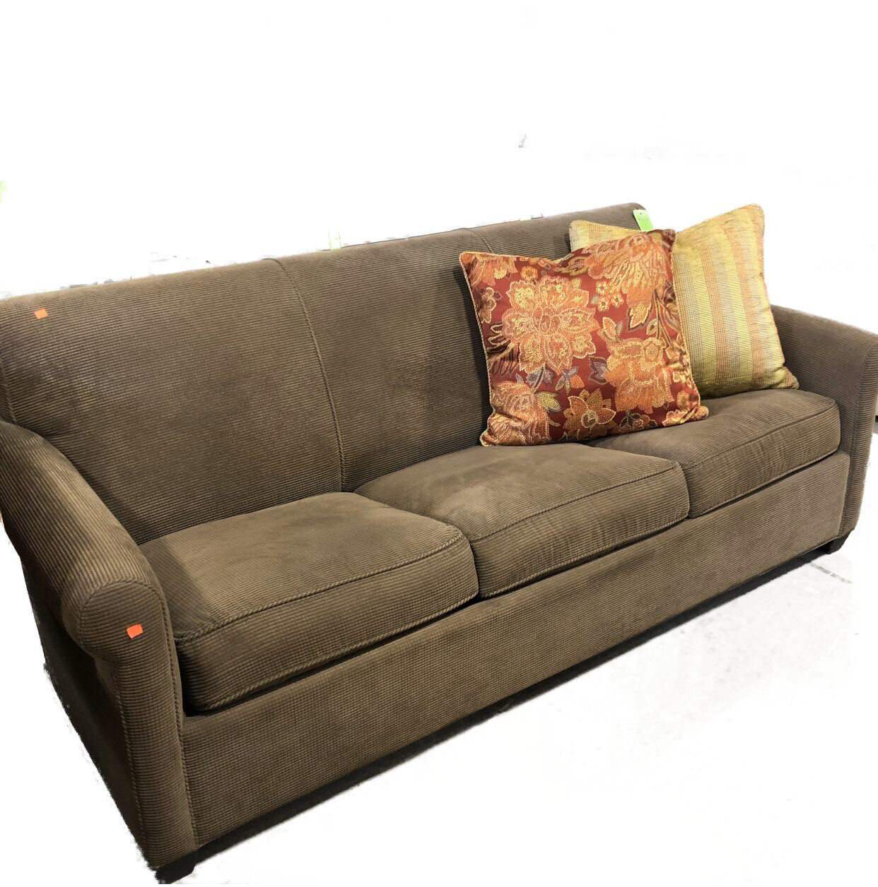 Brown Corduroy Sofabed