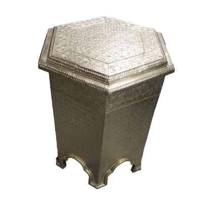 Metal Embossed Side Table
