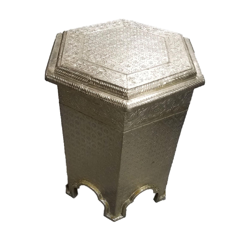 Metal Embossed Side Table