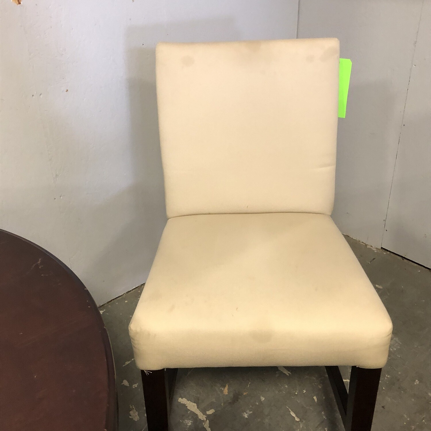 Pottery Barn Off-White Linen Counter Height Chair 4
