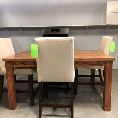 Pottery Barn Off-White Linen Counter Height Chair