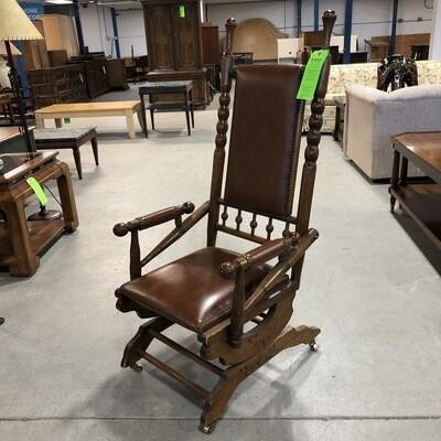 Vintage Wooden Platform Rocking Chair