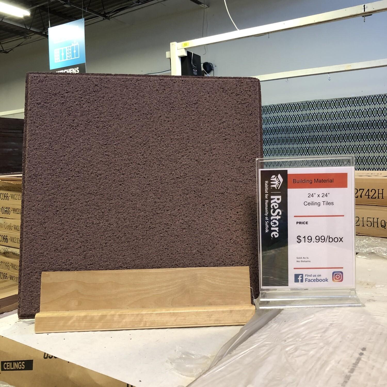 "USG CGC Ceilings - 24""x24"" Redwood Ceiling Tiles"