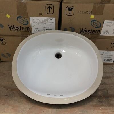 Western Works Undercounter Bathroom Lavatory - White