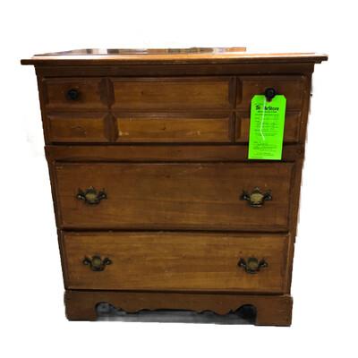 Vintage 3-Drawer Wooden Dresser